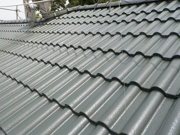 モ二エル瓦の屋根塗装