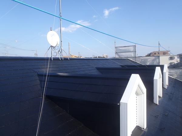 屋根塗装(アパート)