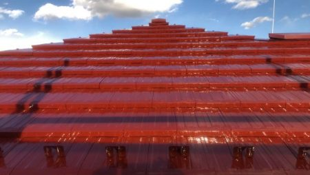 八王子市で屋根焼き瓦塗装