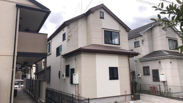 八王子市のN様邸で外壁屋根塗装