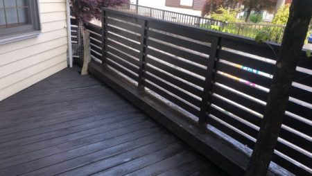 玄関ドア、木製フェンス、ウッドデッキ塗装