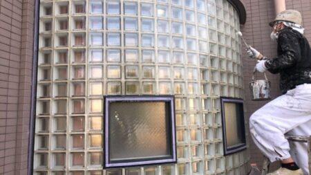ガラスブロック施工